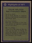 1972 Topps #282   -  Dave Wilcox All-Pro Back Thumbnail