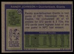 1972 Topps #325  Randy Johnson  Back Thumbnail
