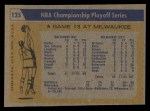 1971 Topps #135   NBA Playoffs Game #3 Back Thumbnail