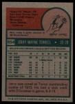 1975 Topps #654  Jerry Terrell  Back Thumbnail