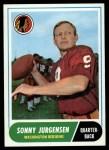 1968 Topps #88  Sonny Jurgensen  Front Thumbnail
