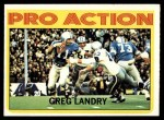 1972 Topps #261   -  Greg Landry Pro Action Front Thumbnail