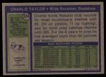 1972 Topps #334  Charlie Taylor  Back Thumbnail