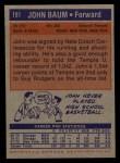 1972 Topps #191  John Baum   Back Thumbnail
