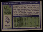 1972 Topps #204  Buck Buchanan  Back Thumbnail