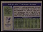 1972 Topps #211  Bill Nelsen  Back Thumbnail