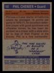 1972 Topps #102  Phil Chenier   Back Thumbnail