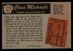 1955 Bowman #85  Cass Michaels  Back Thumbnail