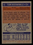 1972 Topps #65  Tom Boerwinkle   Back Thumbnail
