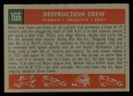 1959 Topps #166   -  Minnie Minoso / Rocky Colavito / Larry Doby Destruction Crew Back Thumbnail