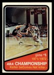 1972 Topps #245   ABA Championship Game #5 Front Thumbnail