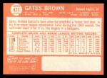 1964 Topps #471  Gates Brown  Back Thumbnail