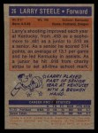1972 Topps #26  Larry Steele   Back Thumbnail