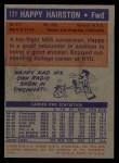 1972 Topps #121  Happy Hairston   Back Thumbnail