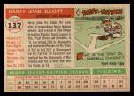 1955 Topps #137  Harry Elliott  Back Thumbnail