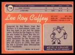 1970 Topps #236  Lee Roy Caffey  Back Thumbnail