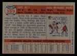 1957 Topps #389  Dave Jolly  Back Thumbnail