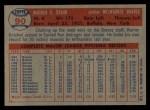 1957 Topps #90  Warren Spahn  Back Thumbnail