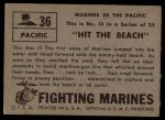1953 Topps Fighting Marines #36   Hit The Beach Back Thumbnail