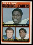 1972 Topps #2   -  John Brockington / Steve Owens / Willie Ellison NFC Rushing Leaders Front Thumbnail