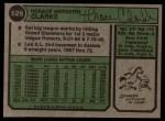1974 Topps #529  Horace Clarke  Back Thumbnail