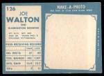 1961 Topps #126  Joe Walton  Back Thumbnail