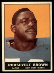 1961 Topps #88  Roosevelt Brown  Front Thumbnail