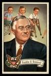 1956 Topps U.S. Presidents #34  Franklin Roosevelt  Front Thumbnail