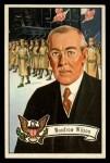 1956 Topps U.S. Presidents #30  Woodrow Wilson  Front Thumbnail