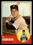 1963 Topps #479  Ed Brinkman  Front Thumbnail