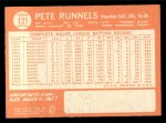 1964 Topps #121 ^COR^ Pete Runnels  Back Thumbnail