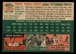 1954 Topps #202  Bob Purkey  Back Thumbnail