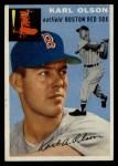 1954 Topps #186  Karl Olson  Front Thumbnail