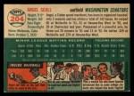 1954 Topps #204  Angel Scull  Back Thumbnail