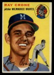 1954 Topps #206  Ray Crone  Front Thumbnail