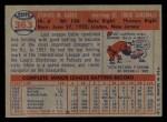 1957 Topps #363  Eddie Kasko  Back Thumbnail