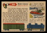 1955 Topps Rails & Sails #48   Bay-Windown Caboose Back Thumbnail