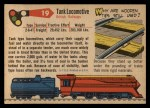 1955 Topps Rails & Sails #19   Tank Locomotive Back Thumbnail