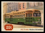 1955 Topps Rails & Sails #23   PCC Trolley Car Front Thumbnail