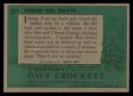1956 Topps Davy Crockett #31 GRN  Finish 'Em Davy  Back Thumbnail