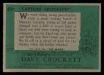 1956 Topps Davy Crockett #49 GRN  Capture Crock  Back Thumbnail