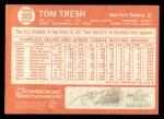 1964 Topps #395  Tom Tresh  Back Thumbnail
