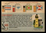 1955 Topps Rails & Sails #142   Charles H. West Back Thumbnail