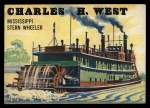 1955 Topps Rails & Sails #142   Charles H. West Front Thumbnail