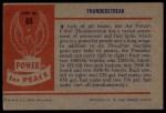 1954 Bowman Power for Peace #65   Thunderstreak Back Thumbnail