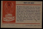 1954 Bowman Power for Peace #41   That's My Buoy! Back Thumbnail