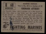 1953 Topps Fighting Marines #68   Grenade Attack Back Thumbnail
