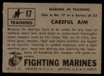 1953 Topps Fighting Marines #17   Careful Aim Back Thumbnail