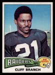 1975 Topps #524  Cliff Branch  Front Thumbnail