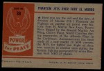 1954 Bowman Power for Peace #38   Phantom Jets Over Fort El Morro Back Thumbnail